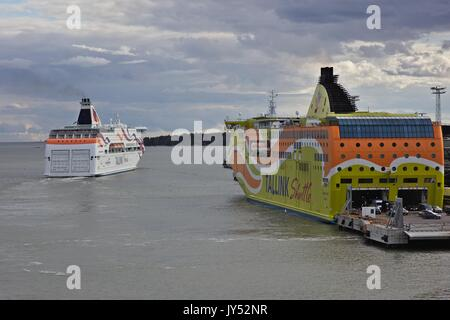 Tallink Cruise, Baltic Queen, on route from Helsinki - Stock Image