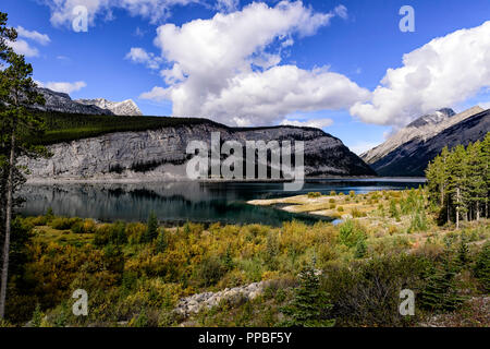 Spray Lakes Reservoir, Kananaskis Alberta Canada - Stock Image