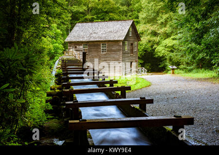 Mingus Grist Mill in Great Smoky Mountains National Park. - Stock Image