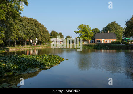 The village pond in Sejerby - Stock Image