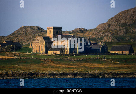 Mull and Iona Inner Hebrides Scotland. 1986 Looking from Fionnphort to Iona - Stock Image