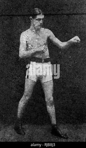 Leon Poutet (1899-19??), French lightweight boxer. - Stock Image