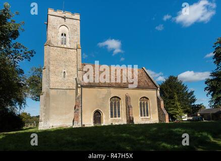 Hatley St George Church, Main St, Sandy SG19 3HR, Cambridgeshire, UK - Stock Image