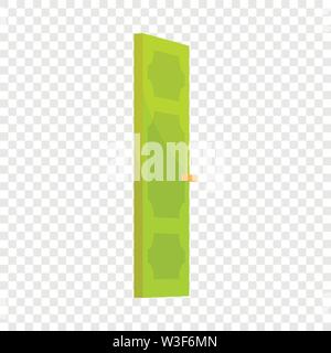 Green door icon, cartoon style - Stock Image