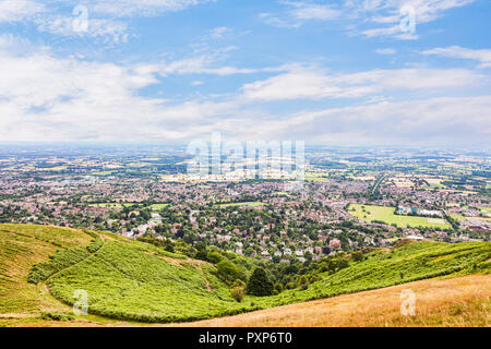 The Malverns from the Worcestershire Beacon, England - Stock Image