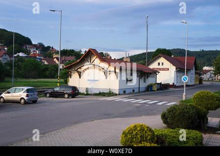 The Luhacovice Railway Station, Luhacovice, Zlin Region, Czech Republic, June 6, 2019. (CTK Photo/Libor Sojka) - Stock Image