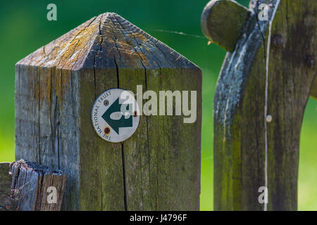 National Trust trail marker, Osterley Park, Isleworth, Middlesex, England