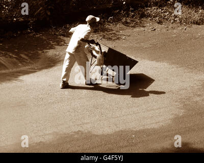 Garbage Collector in India - Stock Image