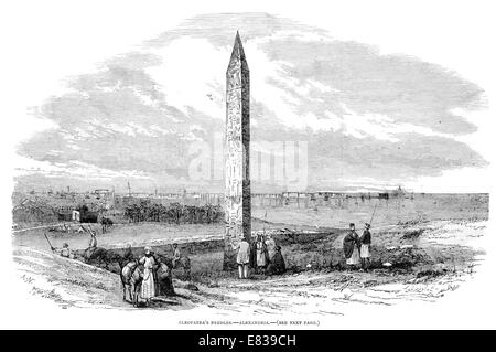 Cleopatra's Needle  18th Dynasty Pharaoh Thutmose III Alexandria 1853 The obelisk remained in Alexandria until - Stock Image