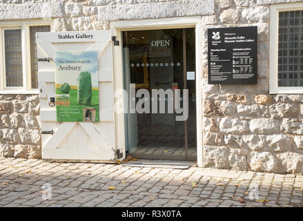 Alexander Keiller museum and Stables gallery Avebury, Wiltshire, England, UK - Stock Image