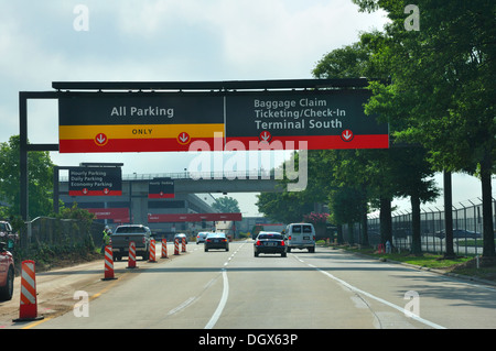 Atlanta airport road signs, Atlanta, Georgia, USA - Stock Image