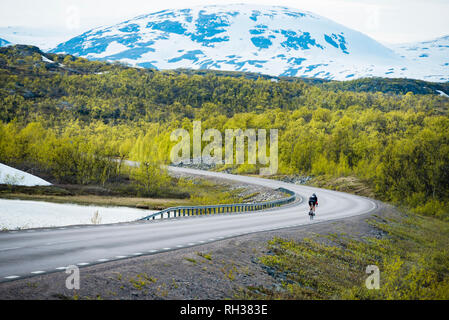Person cycling - Stock Image