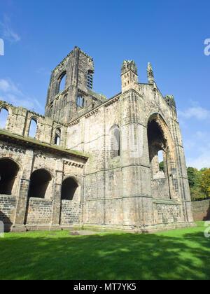 Kirstall Abbey Leeds West Yorkshire UK - Stock Image