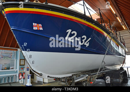 The RNLI Lifeboat Station, Aldeburgh, Suffolk, UK - Stock Image
