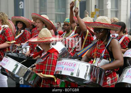 Nostalgia Steel Band, Notting Hill Carnival 2009, London, UK - Stock Image