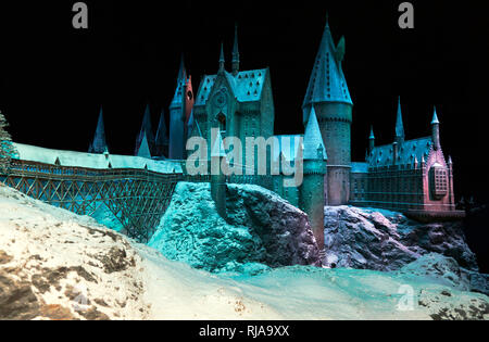Hogwarts in the Snow, Warner Brothers Studio Tour, Leavesdon - Stock Image