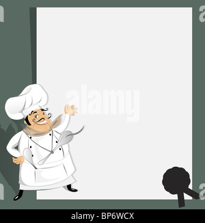 Chef with recipe - Stock Image