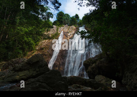 Na Muang waterfall in Ko Samui island, Thailand - Stock Image