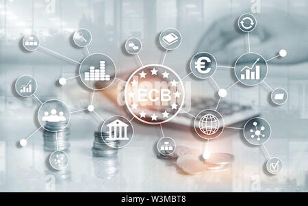 ECB European central bank Business finance concept - Stock Image