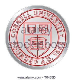 Cornell University icon - Stock Image