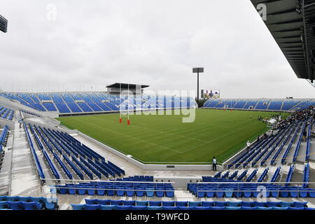 FILE : General view of Kumagaya Rugby Stadium venue for the Rugby World Cup 2019 which will be held in Japan. Image taken September 1, 2018 during the opening ceremony of the Saitama Prefecture qualifying tournament for the 98th National High School Rugby Tournament at Kumagaya Rugby Stadium in Kumagaya, Saitama, Japan. Credit: AFLO/Alamy Live News - Stock Image