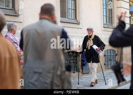 Stockholm, Sweden, September 6, 2018. Swedish Academy crisis. The Swedish Academy has its Thursday meeting after leave. Goran  Malmqvist, member of the Swedish Academy, arrives. No comments. - Stock Image