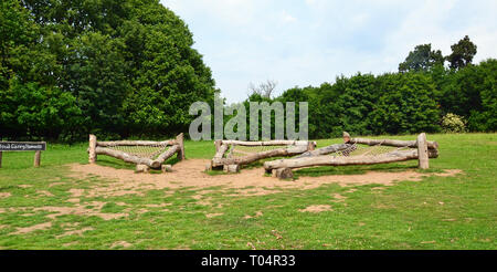 Cloud Grazing Hammocks at Weald Country Park, South Weald, Brentwood, Essex, UK - Stock Image