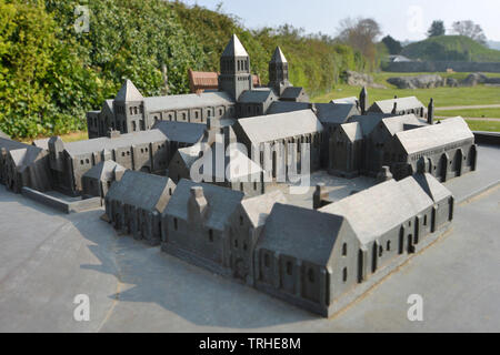 Model of Lewes Cluniac Priory, East Sussex, UK - Stock Image