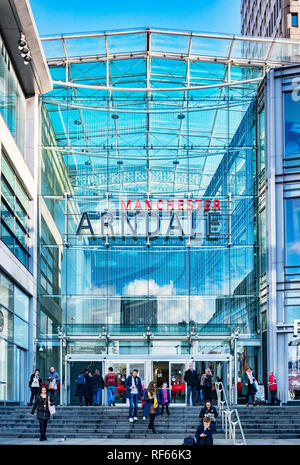 2 November 2018: Manchester, UK -  Corporation Street entrance to the Manchester Arndale shopping centre, one of the largest in the UK. - Stock Image