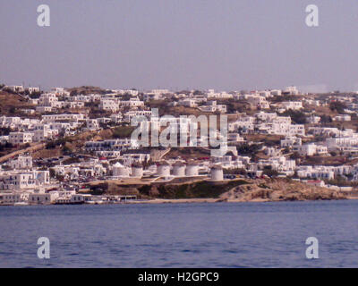 Mykonos Windmills Greek Islands - Stock Image