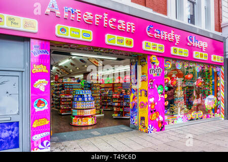 American Candy Shop in Oxford Street sells American sweets not usually easily available in the UK. - Stock Image