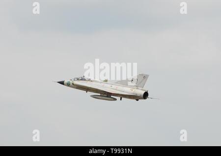 Saab 35 Draken cold war fighter aircraft - Stock Image