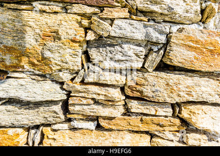 A drystone wall in the South of France village of Gassin, Var, France - Stock Image