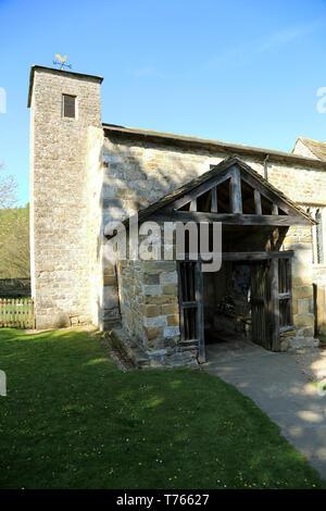 Entrance to St Gregory's Minster, Kirbymoorside, Kirkdale, North Yorkshire, England, United Kingdom - Stock Image