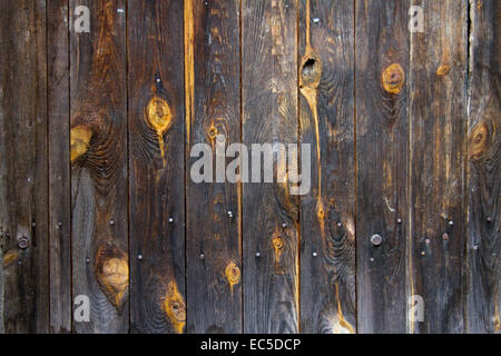 wooden boards with knotholes - Stock Image