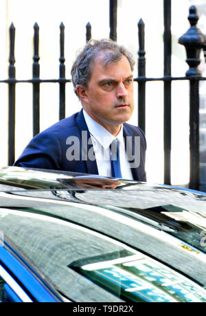 Julian Smith MP (Conservative Chief Whip) leaving Downing Street, London, UK, after a cabinet meeting May 2019 - Stock Image