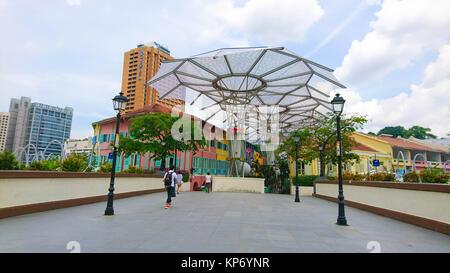 Clarke Quay Singapore - Stock Image