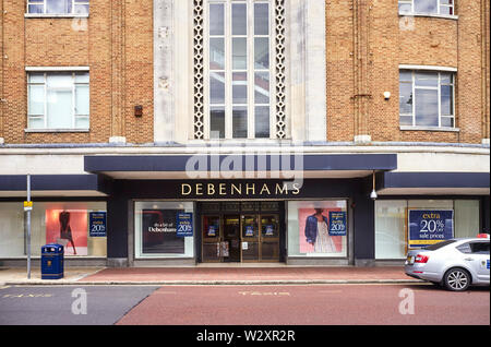 Debenhams in Southsea which is due to close down in the near future - Stock Image