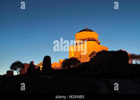 Jvari Monastery of Mtskheta, Georgia, taken in April 2019rn' taken in hdr - Stock Image