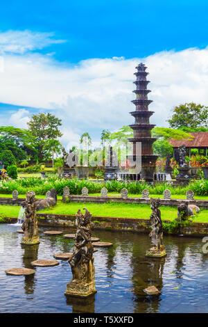 Tirta Gangga water park in Bali island in Indonesia - Stock Image
