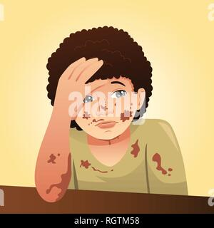 A vector illustration of Messy and Dirty Boy - Stock Image