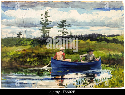 Winslow Homer, The Blue Boat, painting, 1892 - Stock Image