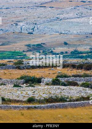 Island Pag in Croatia near Vlasici - Stock Image