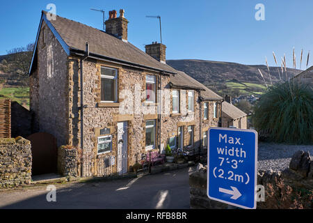 Houses in the village of Bradwell. Peak District National Park, Derbyshire, England. - Stock Image