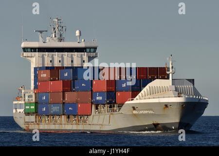 ARA Liverpool heading for Kiel Canal - Stock Image
