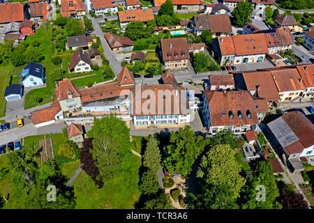 Castle Goumoens la Ville, Goumoens, Vaud, Switzerland - Stock Image