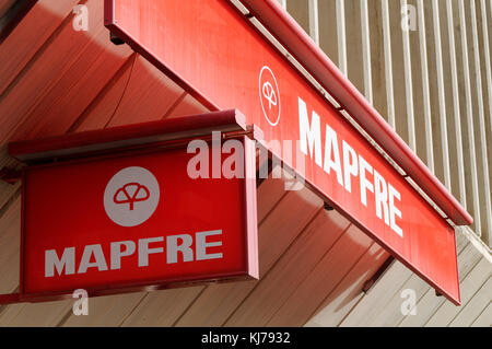 Mapfre Spanish insurance company - Stock Image