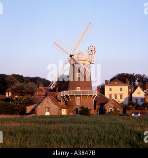 Cley Mill North Norfolk UK at sunset - Stock Image
