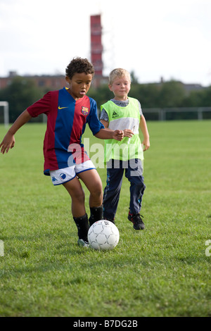 young football player - Stock Image