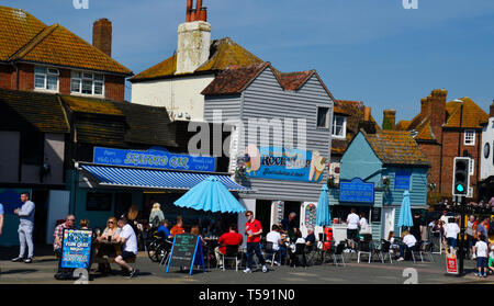 Bust day in Hastings Old Town, Hastings, East Sussex, UK - Stock Image